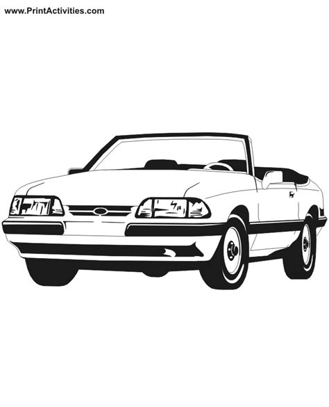 coloring pages of convertible cars free cars mini cooper coloring pages