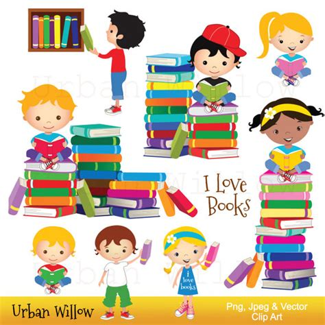 libro uscolia learning without teaching clip art kids reading books graphics kid cute