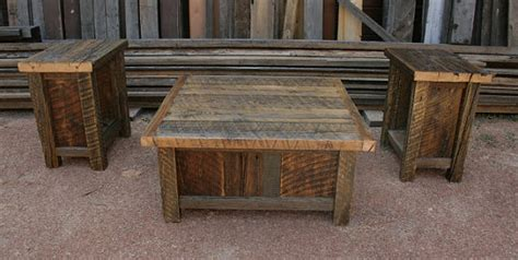 Rustic Barnwood Coffee Table Reclaimed Barnwood Rustic Coffee End Table Set By Echopeakdesign