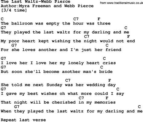 waltz lyrics country the last waltz webb lyrics and chords
