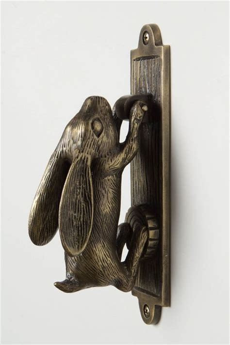 The Knob And Knocker by Swinging Hare Door Knocker Eclectic Cabinet And Drawer
