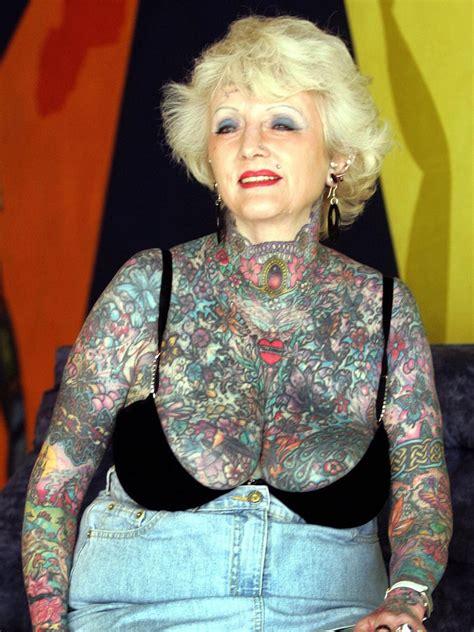 full body tattoo old woman isobel varley world s most tattooed female senior citizen