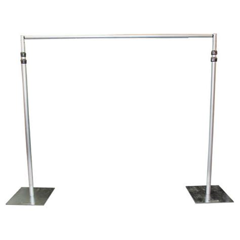 pole and drape pushup pole 2 piece crossbar 7ft 12ft pipe drape