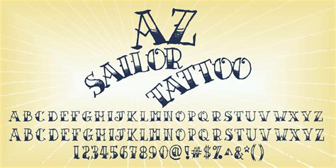 sailor tattoo font fontspring az sailor font by artist of design