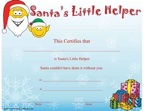 64 Best Certificates Images On Pinterest Certificate Free Printable And Birthday Party Ideas Santa Iou Template