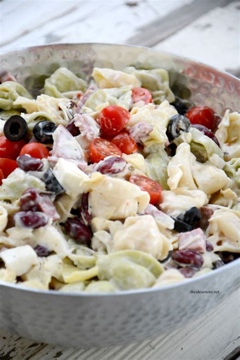 cold salad recipes cold tortellini salad recipe the idea room