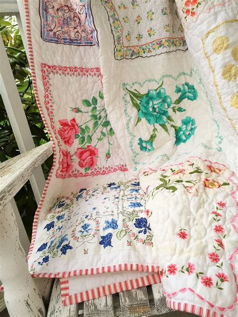 quilt pattern using handkerchiefs do you have a collection of vintage hankies and you aren t