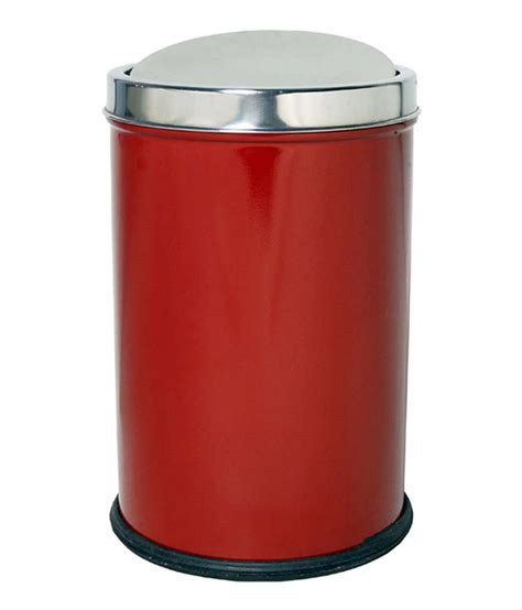 red swing bin hmsteels red stainless steel swing bin dustbin buy