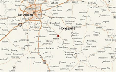 poth texas map floresville location guide