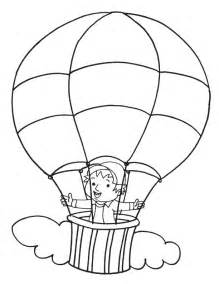 Hot Air Balloon Coloring Page  Download Free sketch template