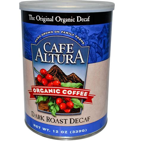 organic light roast coffee cafe altura organic coffee dark roast decaf 12 oz 339