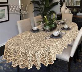oval round lace tablecloth white or beige large premium quality ebay