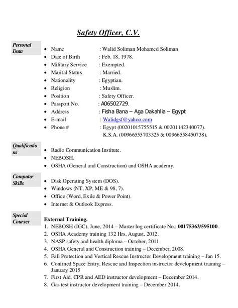 Site Safety Officer Sle Resume by Sle Resume Health Safety Officer Sle Resume Middot How Do A Cover Letter Discovery Attorney