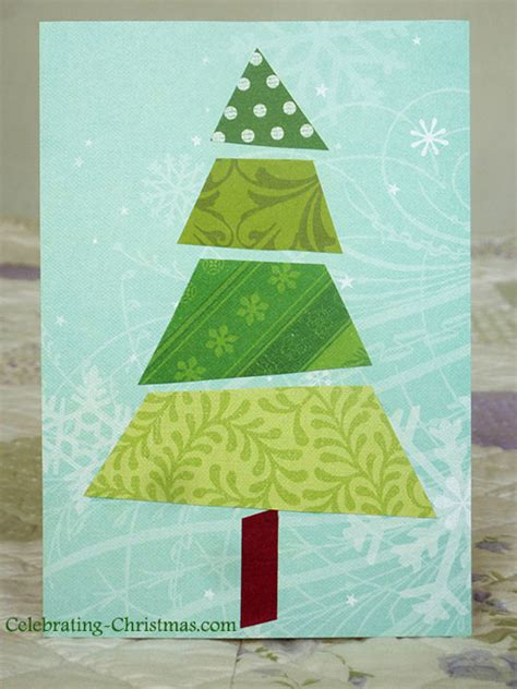 5 super easy christmas tree cards to make celebrating