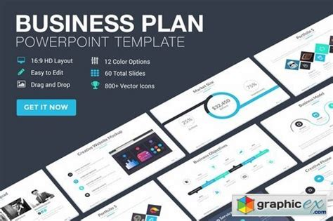 graphic design business plan template business plan powerpoint template 187 free vector