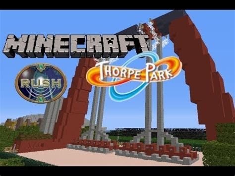 theme park names minecraft minecraft thorpe park episode 3 rush theme park youtube