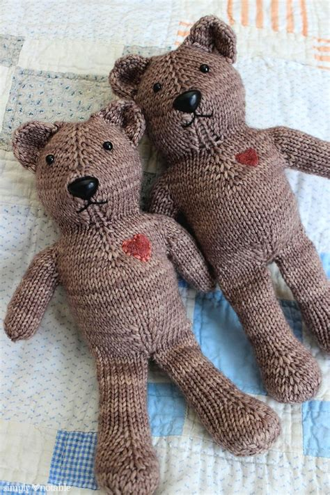 knitting pattern teddy bear magic loop teddy bear knitting pattern simplynotable com