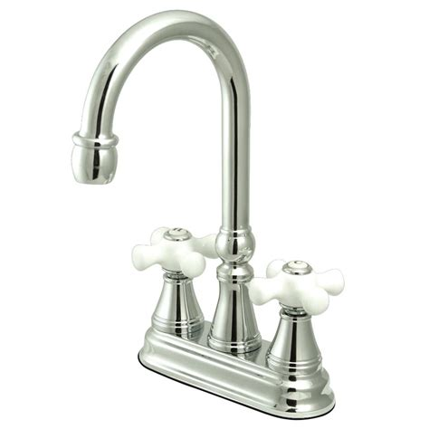 kingston brass porcelain 2 handle bridge kitchen