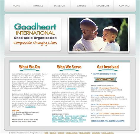 Charity Website Template 06 Non Profit Charity Template Charitable Organization 501 C 3 Charity Web Templates
