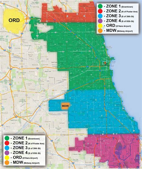 chicago parking zone map zone parking chicago map