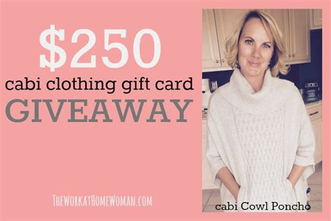 Apparel Giveaways - win a 250 cabi clothing gift card