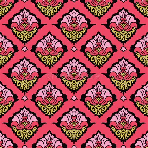 colorful damask wallpaper colorful oriental damask wallpaper stock images image
