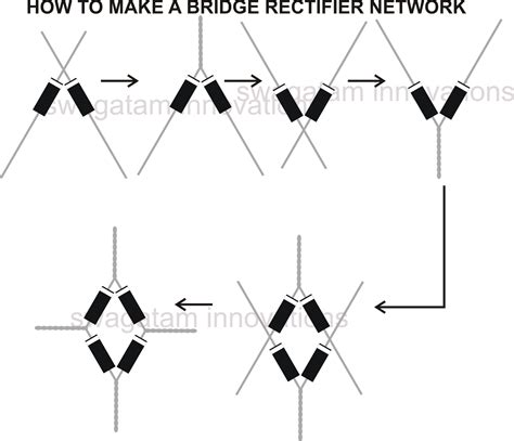 diode bridge pcb how to understand diodes and build a bridge rectifier