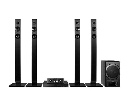buy panasonic 5 1 dvd home theater system sc xh385 at best