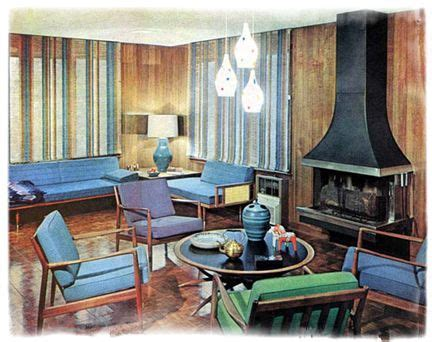 1950s interior design image detail for the clog art pop culture 1950s interior