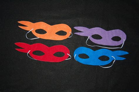 pattern for ninja turtle mask ninja ninja turtle masks set of 8 masks