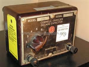 cornell dubilier decade capacitor cdc 3 capacitor decade equipment cornell dubilier electric c