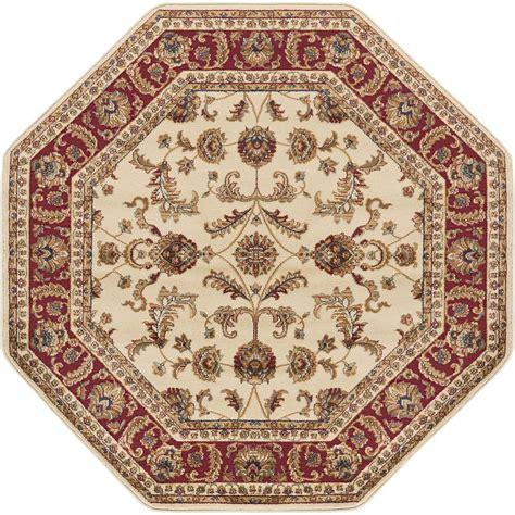 6 octagon rug tayse rugs sensation beige 5 ft 3 in octagon
