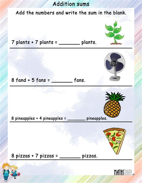 word problems grade 1 math worksheets