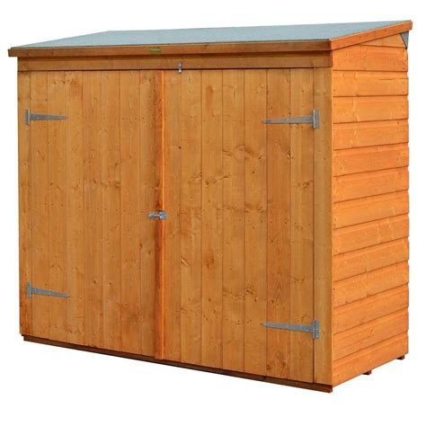 bosmere wall store  ft   ft   wood storage shed