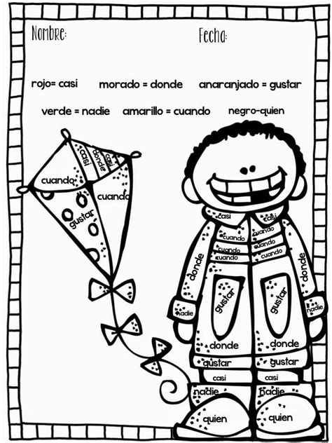 spring coloring pages in spanish 17 best images about language on pinterest spanish