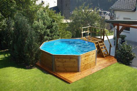 pavillon umrandung holzpool weka korsika mit sandfilteranlage schwimmbecken