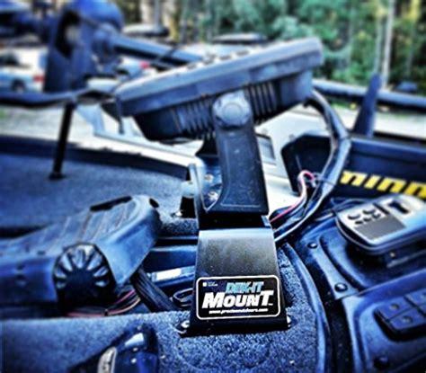 bass boat fish finder mounts dek it 0 0 fish finder mount tournament grade electronics