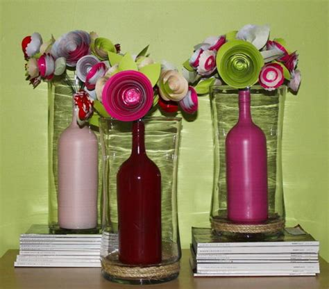 creative wine bottle centerpieces lots of table