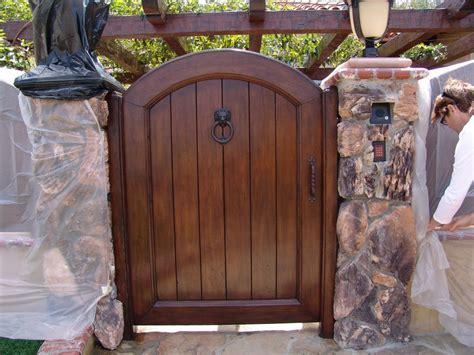 Door Gates by Custom Wood Pedestrian Gate From All Garage Door Inc