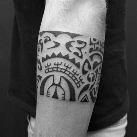 hawaiian tribal band tattoos 50 tribal armband designs for masculine ink ideas
