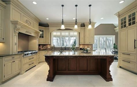 Two Colored Kitchen Cabinets | kitchen cabinet refacing ideas two tone color kitchen