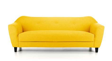 calibri 3 seater fabric sofa yellow modern co uk