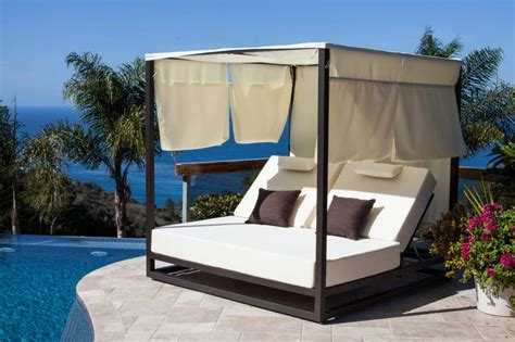 outdoor beds riviera modern outdoor leisure daybed with canopy