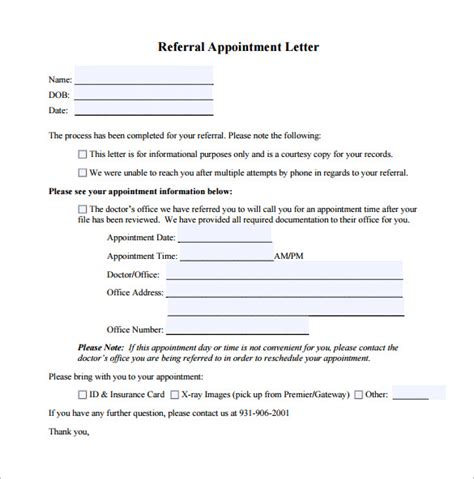 appointment letter format of doctor doctor letter template 17 free sle exle format