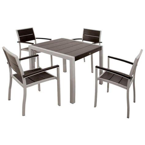 Trex Outdoor Furniture Surf City Textured Silver 5 Piece City Furniture Patio Furniture