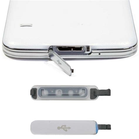 Usb Cover Samsung Galaxy S5 for samsung galaxy s5 replacement usb port cover flap ebay