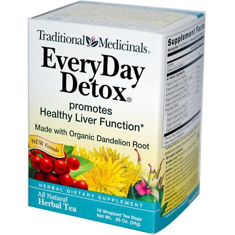 Everyday Detox Tea Reviews by Traditional Medicinals Everyday Detox Herbal Tea 16 Tea