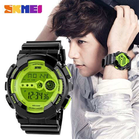 Skmei 9113 Original Water Resistant 50m Black Brown skmei sport water resistant 50m dg1026 black jakartanotebook