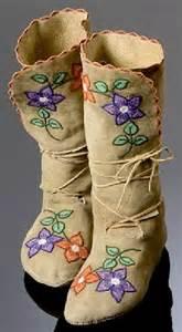 moccasins shoshone bannock floral amp vamp beaded design