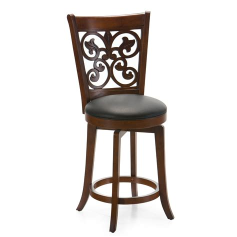 Cherry Bar Stools by Bonaire 24 In Swivel Counter Stool Brown Cherry Bar